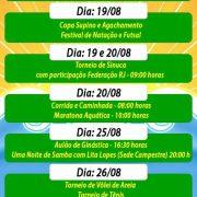 Programação de aniversário do CEPE MACAÉ