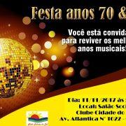FESTA DOS ANOS 70 E 80.