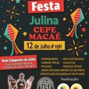 FESTA JULINA CEPE-MACAÉ 12/07/2019