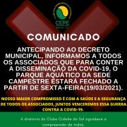 FECHAMENTO DO PARQUE AQUÁTICO